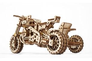 «Scrambler UGR-10 Motor Bike with sidecar» model kit