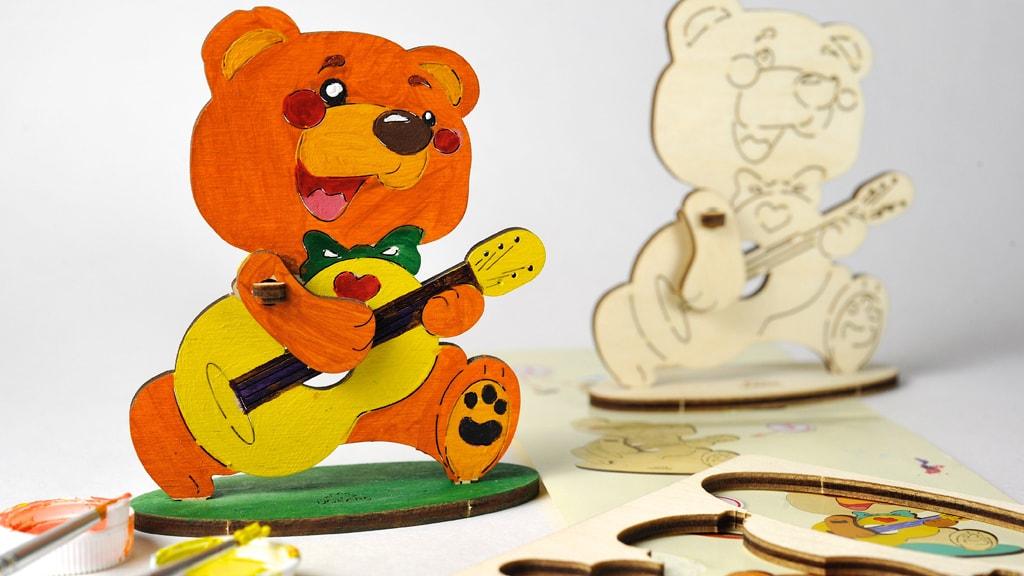 3D coloring model «Bear»