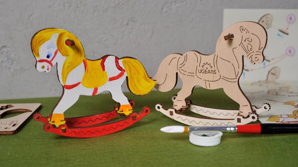 3D coloring model «Horse Swing»