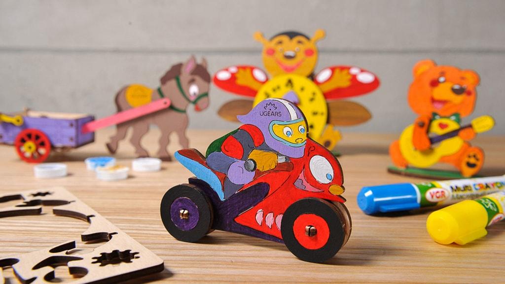 3D coloring model «Motocyclist»