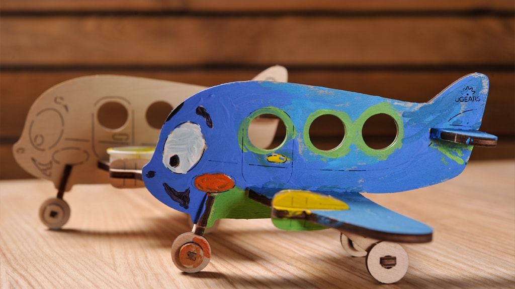 3D coloring model «Airplane»