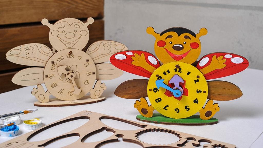 3D coloring model «Clock»