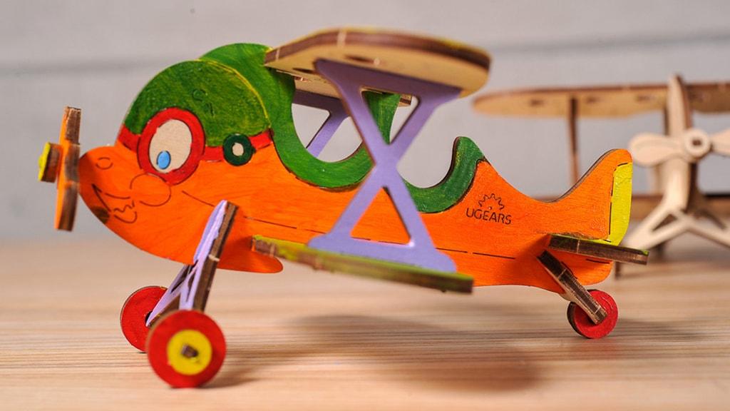 3D coloring model «Biplan»