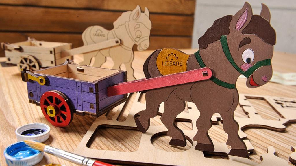 3D coloring model «Donkey»