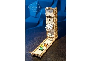 Modular Dice Tower mechanical wooden device for tabletop games