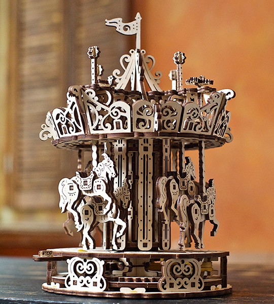 UGEARS «Carousel» mechanical model kit