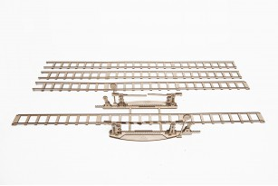 Set of Rails with Crossing mechanical model
