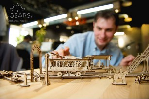 """Tram Line"" model kit. Mechanical Town collection"
