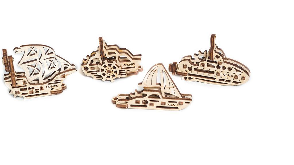 U-Fidgets-Ships. Set of 4 models